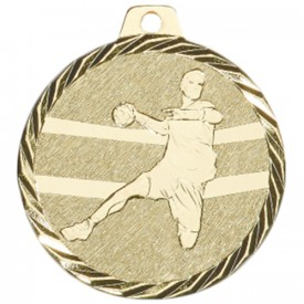 Médaille Handball 50 mm Or - France Sport F_NZ09D